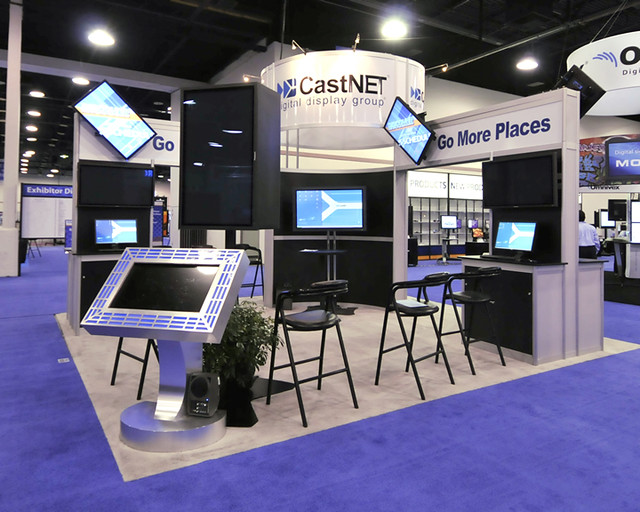 Exhibition Booth Signage : Digital display trade show booth custom systems