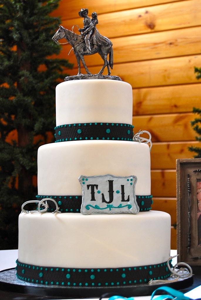 Western Theme Wedding Cake Western Themed Wedding Cake
