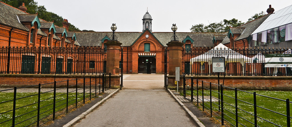 The Red Stables Are Located In St  Annes Park
