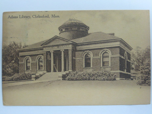 Adams Library postcard 1a | by chelmsfordpubliclibrary
