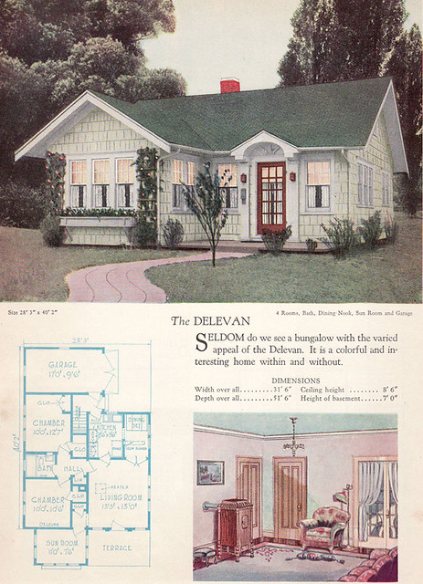 1928 Home Builders Catalog The Delevan