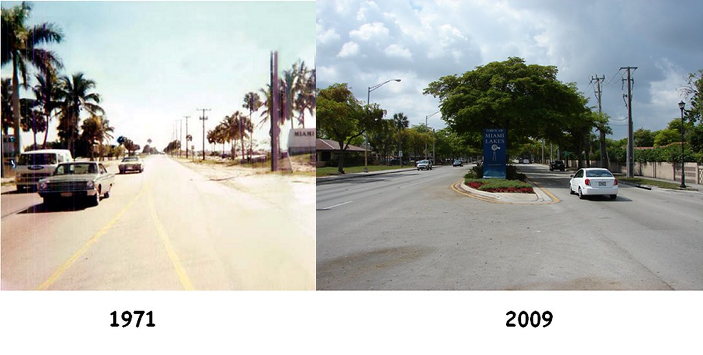 miami lakes florida then and now looking south on nw flickr. Black Bedroom Furniture Sets. Home Design Ideas