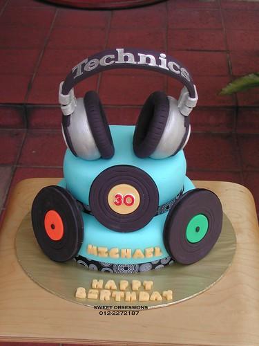 Dj Themed Birthday Cakes