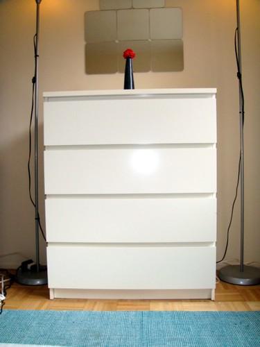SOLD - MALM dresser - White 4 drawers - $52  4-drawer chest…  Flickr