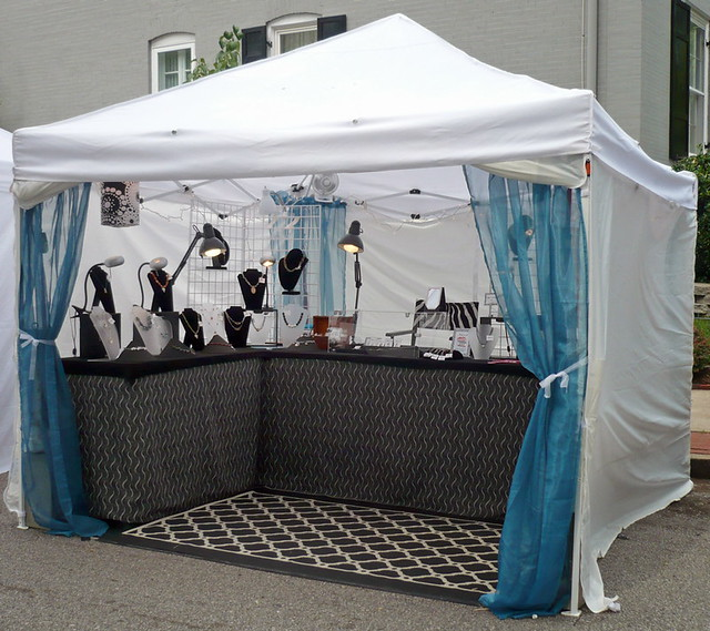 New outdoor display cwe art show booth robin ragsdale for How to set up a booth at a craft show