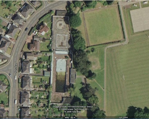 Aerial Photo Of Bailey Park Pool Abergavenny Wales Flickr