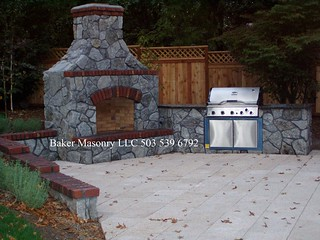 Stone Outdoor Fireplace(Baker Masonry LLC 503 539 6792) | by bakermasonry