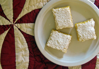 lemon bars on quilt | by Jess | Sweet Amandine