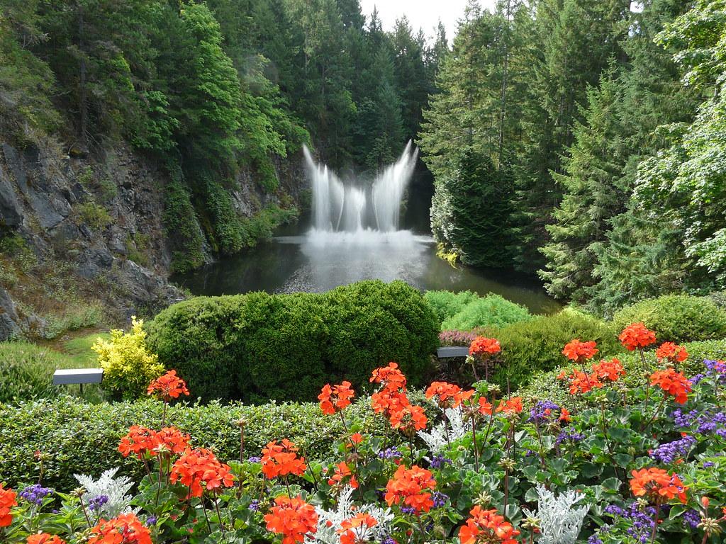 sunken garden fountain