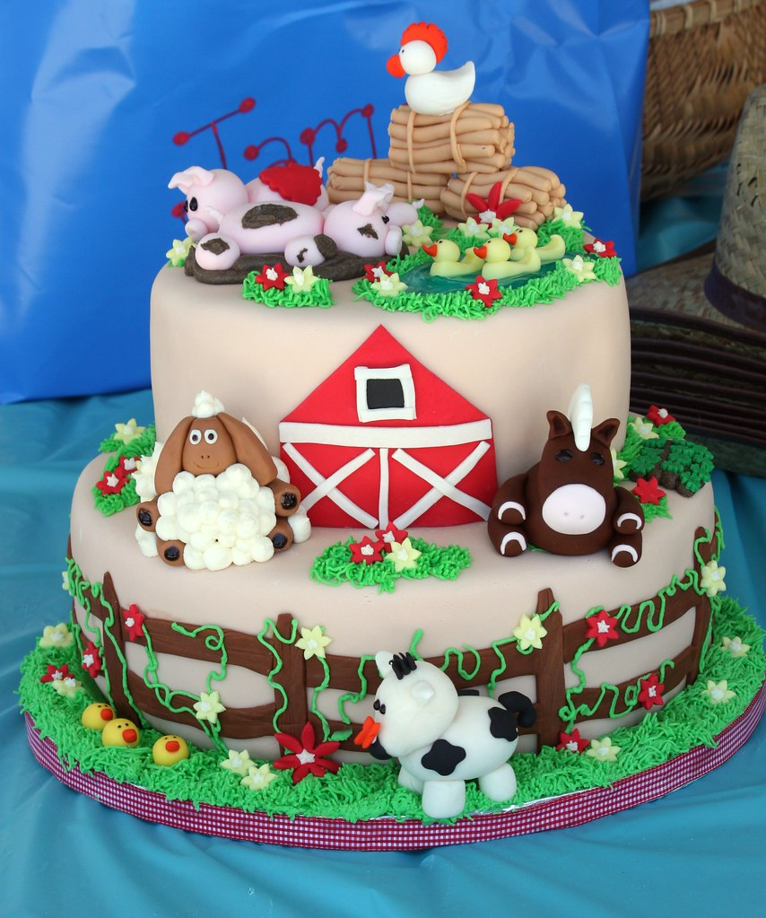 Farm animal birthday cake #(2) Another view Christine ...