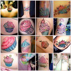 Cupcake Tattoo Mosaic | by annelibabe