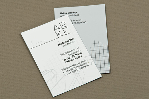 Architecture Firm Business Card Architecture Firm