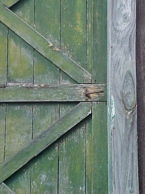 Green Barn Door Actually The Barn Did Have A Door On