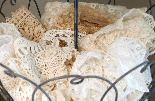 vintage lace in all shades of white | by seaside rose garden