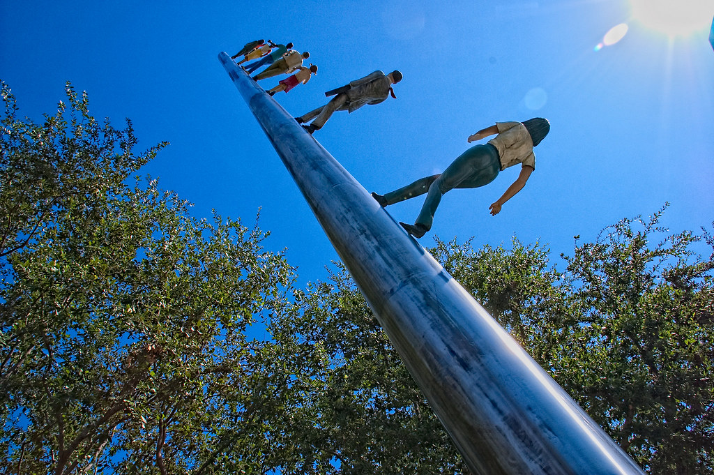 Walking To The Sky By Jonathan Borofsky Nasher Sculpture