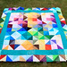 'Shattered rainbow' quilt top (3)