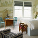 Maps as decor: Beachy nautical bedroom, designed by Steven Gambrel