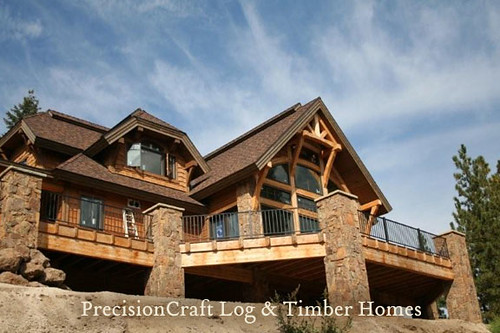 Timber frame home exterior your architect should first for Timber frame exteriors