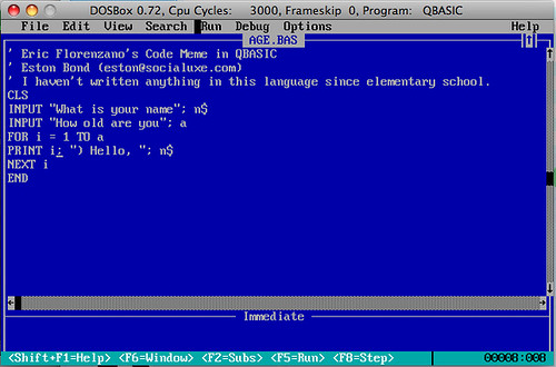 Example programs in qbasic what do you think