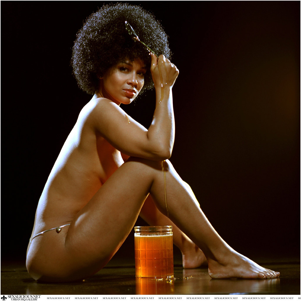 Raye, Lisa | Lisa Raye.Dripping honey on her body.Portrait ...