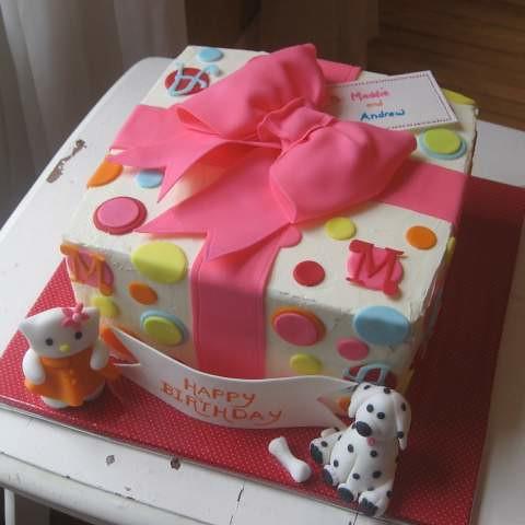 Birthday Present Cake Chocolate Cake With Fresh Raspbery