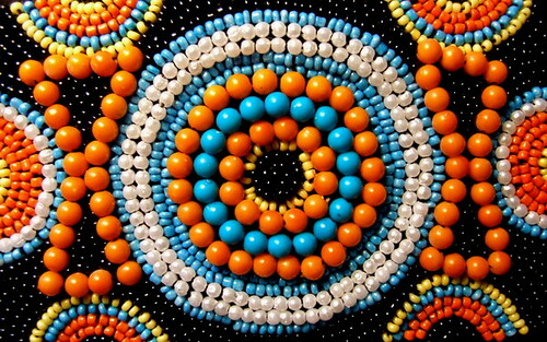 African bead work indian hand embroidery skills combined