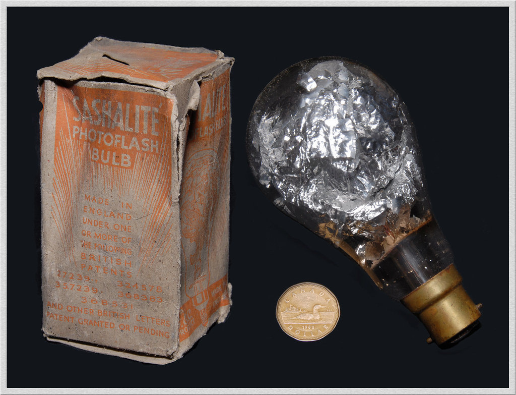 Sashalite Flashbulb General Electric Company Invented