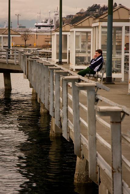 Waterfront fishing pier cell user seattle wa margret for Seattle fishing pier