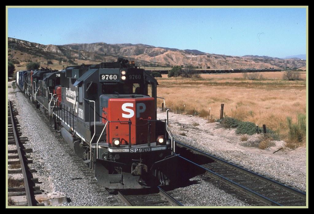 Southern Pacific Railroad Emd Gp60 9760 Close Up