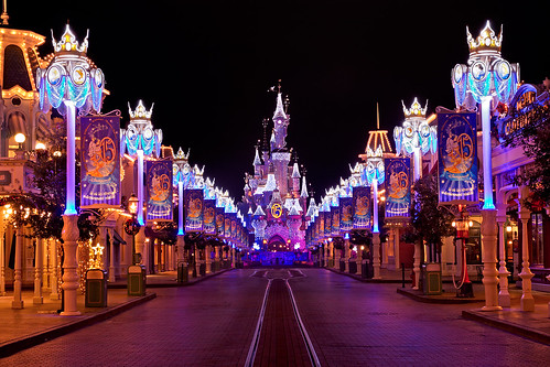 Disneyland Paris at Night Disneyland Paris by Night | by