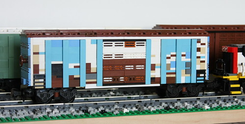 Weathered blue boxcar | by swoofty