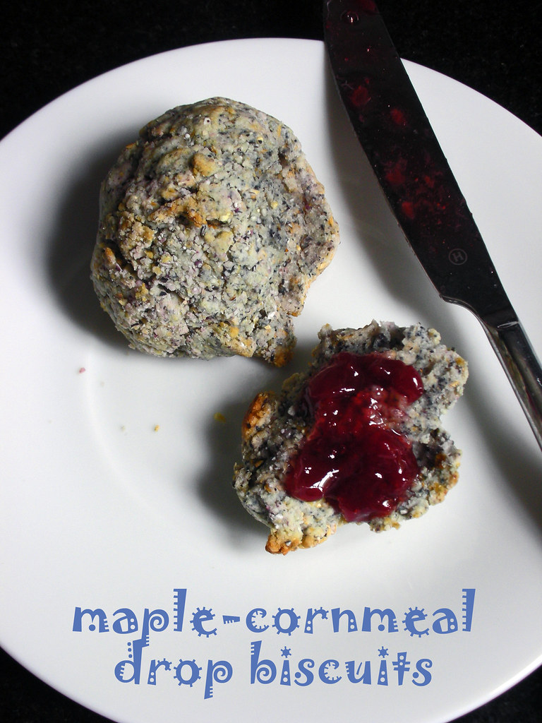 maple-cornmeal drop biscuits | with blue cornmeal Tuesdays ...