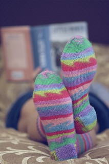 I finally finished knitting these Sassy Socks.  Now I can rest. | by KimFearheiley