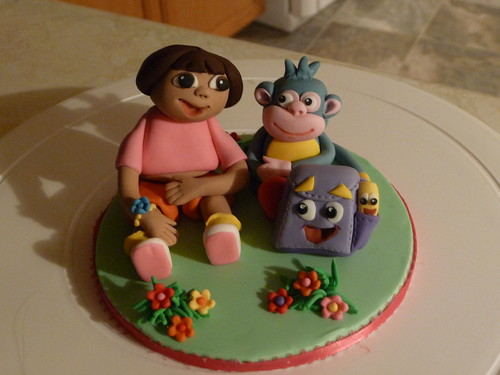 Dora Boots and backpack cake topper | by JaneBK