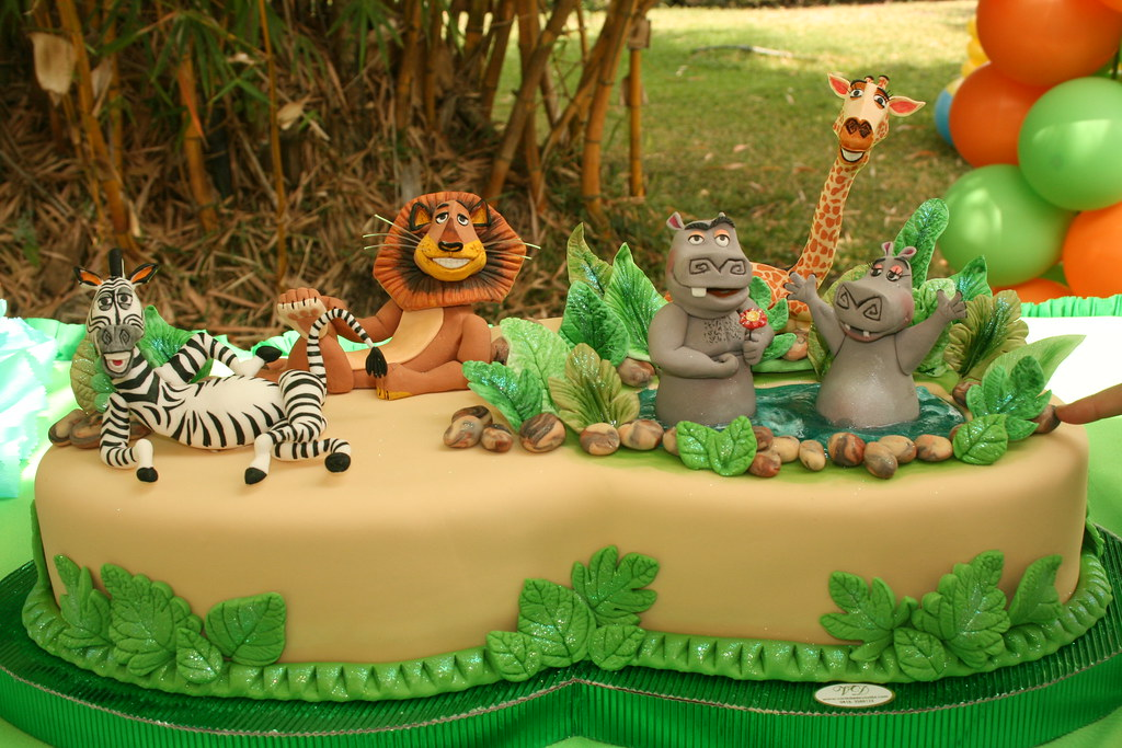 Madagascar Ii Cake 3 All The Pieces Are Handmade And