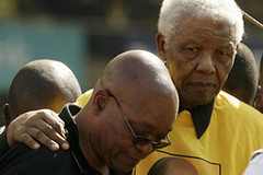 ANC President Jacob Zuma and former President Nelson Mandela at a ANC rally on April 19, 2009. The Republic of South Africa held national elections on April 22, 2009. | by Pan-African News Wire File Photos