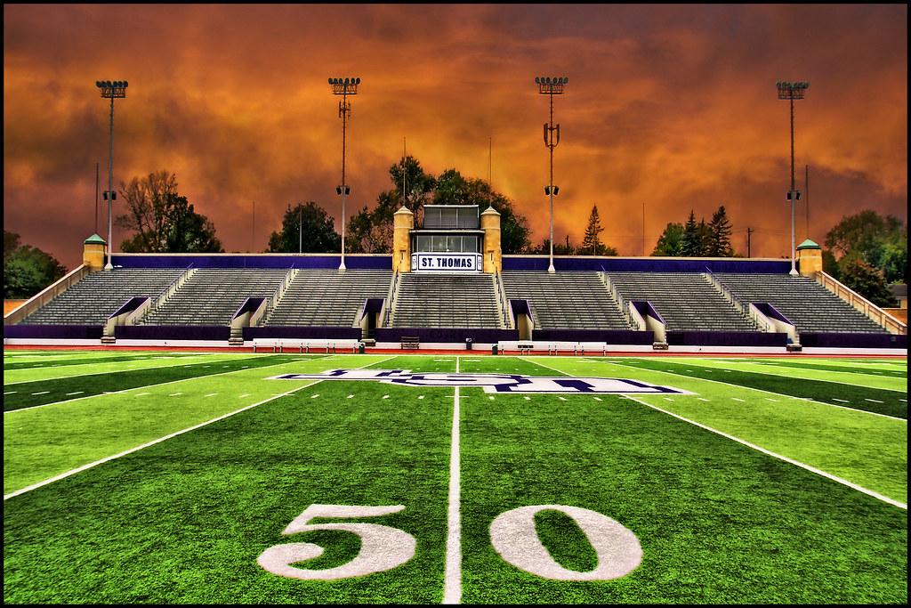 Football Stadium Field 50 Yard Line