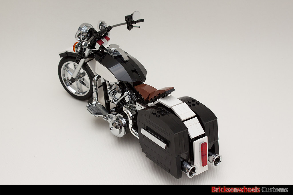 harley davidson flh1340 custom in lego 1 10 after some. Black Bedroom Furniture Sets. Home Design Ideas