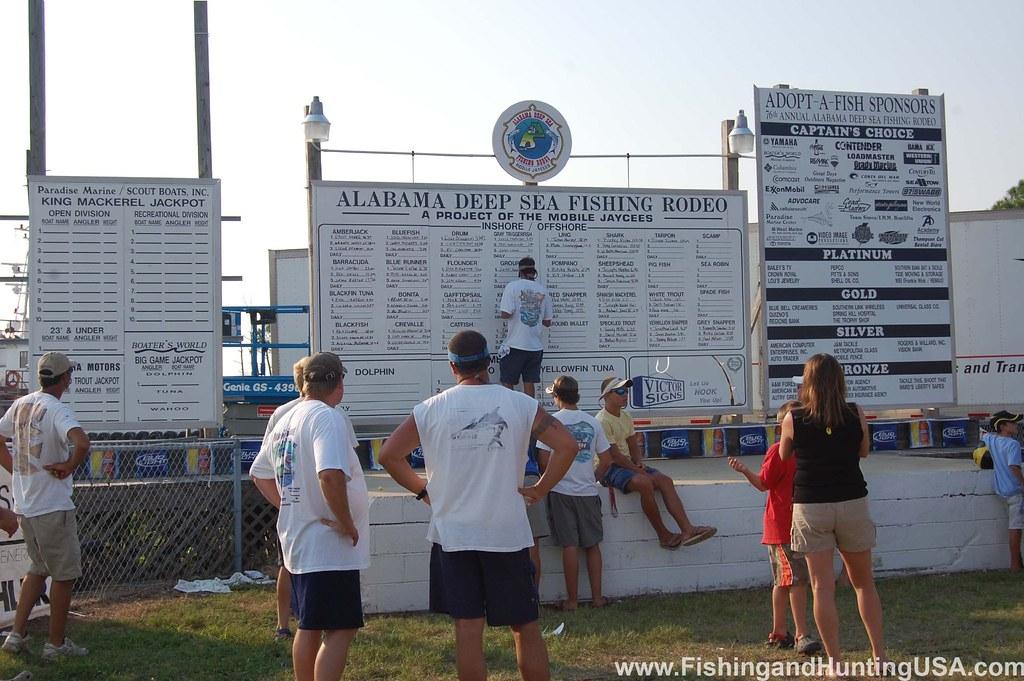 Leader and sponsor boards alabama deep sea fishing rodeo for Deep sea fishing mobile al