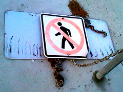 peddy the pedestrian sign man