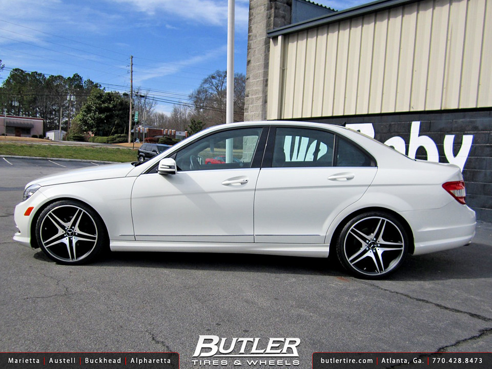 Mercedes c300 with 19in euro mb8 wheels additional for Mercedes benz c300 rims