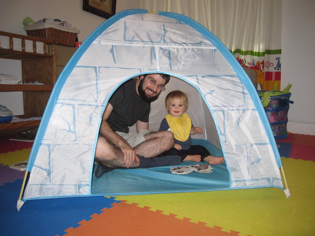 The igloo tent from Ikea | Caroline