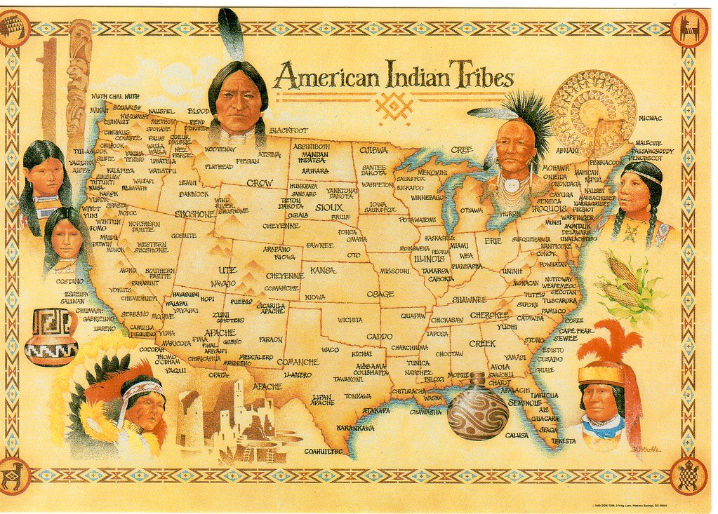 usa american indian tribes map nhigh flickr. Black Bedroom Furniture Sets. Home Design Ideas