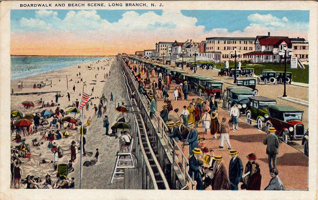 boardwalk & beach long branch new jersey | World War II ...