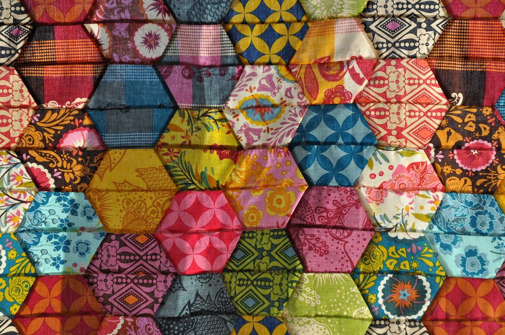 half hexagon quilt batixa Flickr
