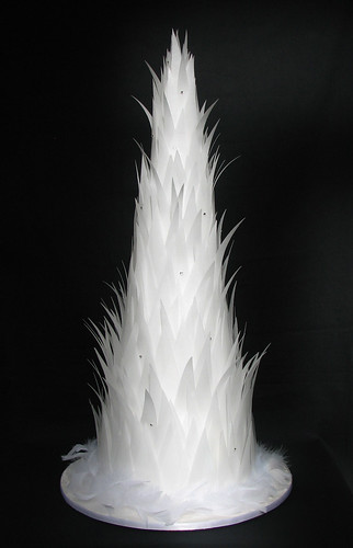 Angel Feathers Wedding Cake