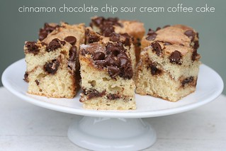 Food Librarian - Cinnamon Chocolate Chip Sour Cream Coffee Cake | by Food Librarian
