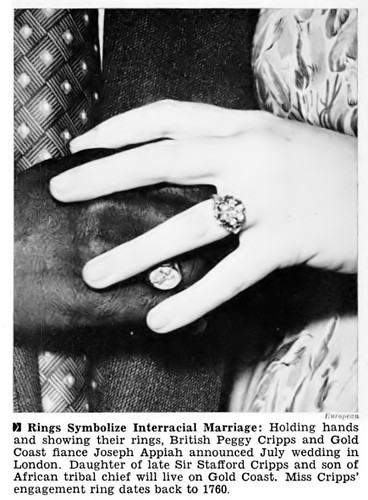 Rings Symbolize Interracial Marriage Planned Between Peggy