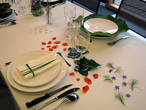Decoration Table Herbe