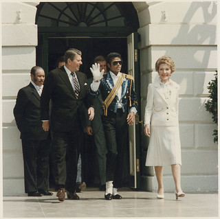 The Reagans and Michael Jackson at the White House Ceremony to Launch the Campaign Against Drunk Driving, 05/14/1984 | by The U.S. National Archives
